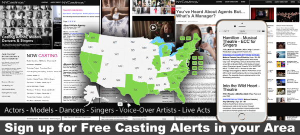 Casting calls for Actors, Models, Dancers & Singers - Union