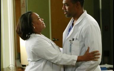 Jason George and Chandra Wilson in Greys Anatomy _PhotoByMitch Haaseth ABC1