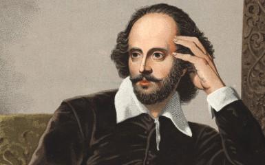 William Shakespeare. Portrait of William Shakespeare 1564-1616.