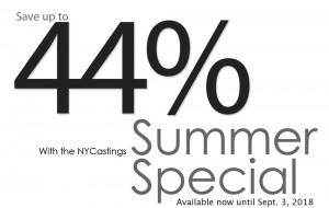 NYCastings-SummerSpecial-1000-Sept