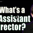 What's a 1st Assistant Director