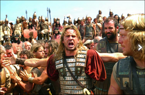 Neil Jackson, Jared Leto, Colin Farrell and Rory McCann in Alexander. Photo Credit IMF Internationale Medien und Film GmbH and Co. 3 Produktions KG