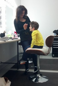 Boy in Hair and Makeup