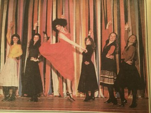Laila Robins Anita in WESTSIDE STORY at the University of Wisconsin- Eau Claire Im the one in red jumping