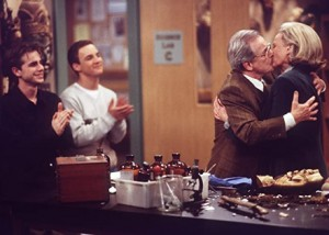 Bonnie Bartlett, Ben Savage, William Daniels and Rider Strong in Boy Meets World _ Randy Tepper ABC via Getty Images 2010 American Broadcasting Companies, Inc.