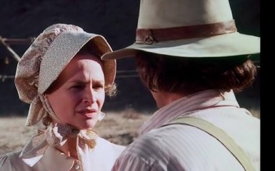 Bonnie Bartlett and Michael Landon in Little House on the Prairie