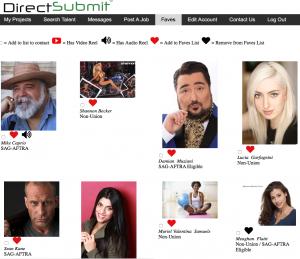 Casting Directors Fav List